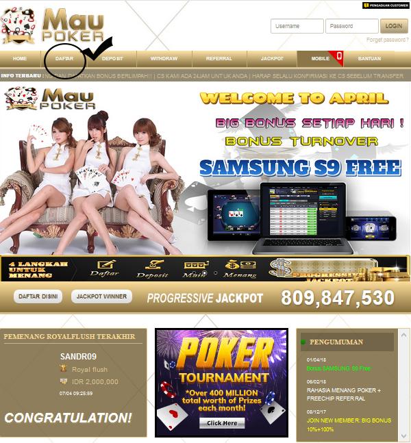Cara Daftar Agen IDNPLAY Poker Online Tanpa Deposit Awal 2018